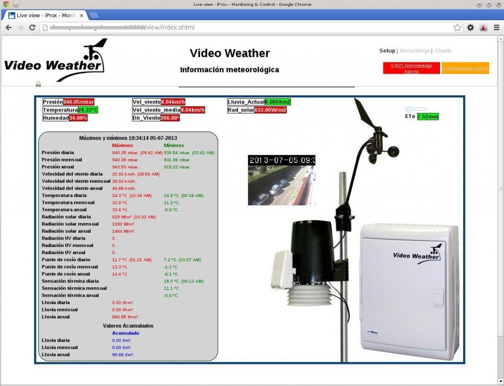 Captura estación meteorológica automática